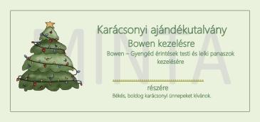 A Bowen ajándékutalvány ára 12.000.- Ft